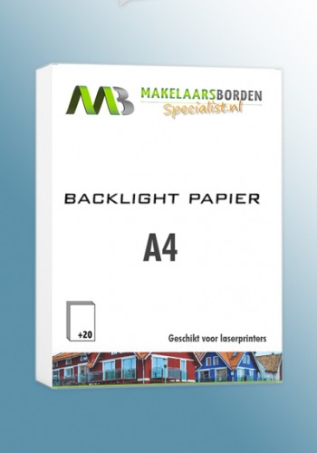 Backlight papier A4 (20 vel)