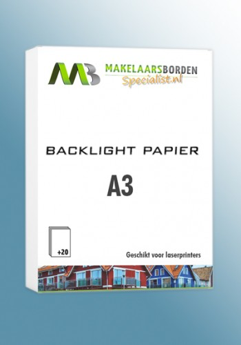Speciaal backlight papier A3 (20 vel)
