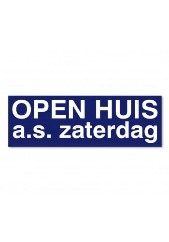Ultra removable sticker OPEN HUIS a.s. zaterdag (blauw)