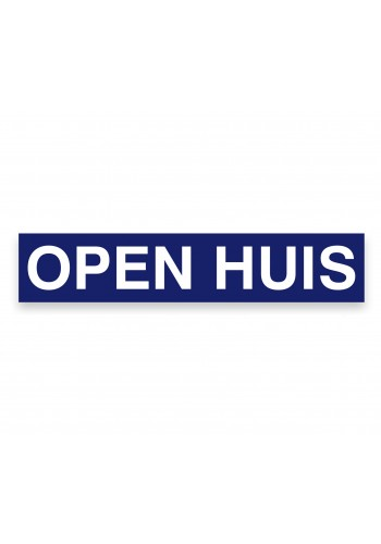 Sticker ultra removable OPEN HUIS