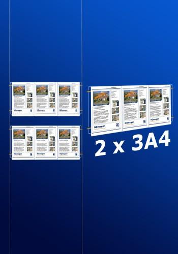 raampresentatie - raamdisplay 2 x 3a4