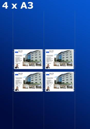 raampresentatie - raamdisplay 2 x dubbel a3 (A3 papier)