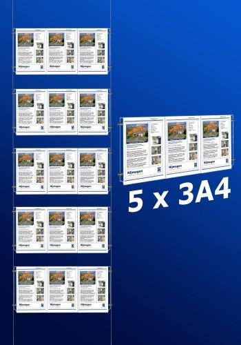raampresentatie - raamdisplay 5 x 3a4
