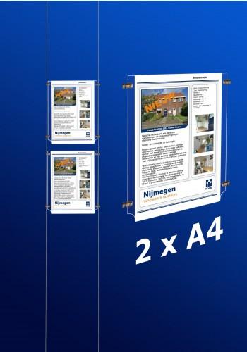 raampresentatie - raamdisplay 2 x a4