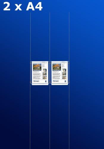 raampresentatie - raamdisplay 1 x dubbel a4