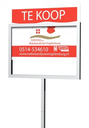 Makelaarsbord BASIC (700 x 500 mm)