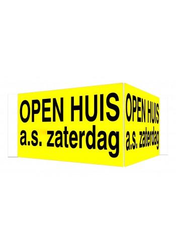 OPEN HUIS V-bord a.s. zaterdag met tape (geel)