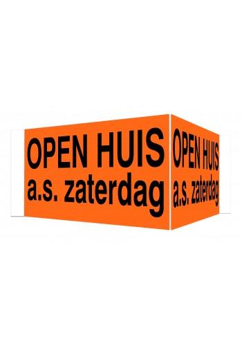 OPEN HUIS V-bord a.s. zaterdag met tape (oranje)