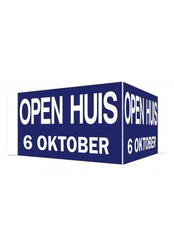 Open Huis V-bord 6 oktober (blauw)