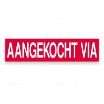 Ultra removable sticker AANGEKOCHT