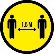 Sticker Corona 1,5 meter
