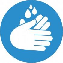 Corona sticker - handen wassen