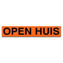 Sticker ultra removable OPEN HUIS (oranje)