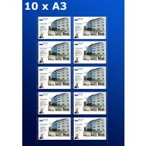 raampresentatie - raamdisplay 5 x dubbel a3 (A3 papier)