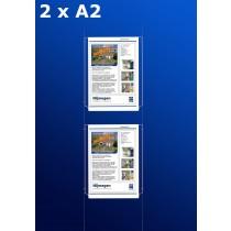 raampresentatie - raamdisplay 2 x a2