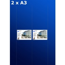 raampresentatie - raamdisplay 1 x dubbel a3 (A3 papier)