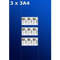 raampresentatie - raamdisplay 3 x 3a4