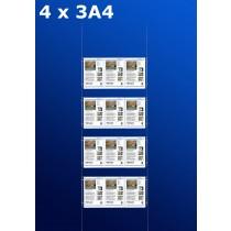 raampresentatie - raamdisplay 4 x 3a4