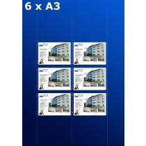 raampresentatie - raamdisplay 3 x dubbel a3 (A3 papier)
