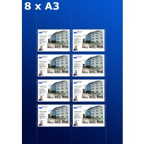 raampresentatie - raamdisplay 4 x dubbel a3 (A3 papier)