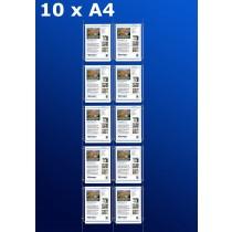 raampresentatie - raamdisplay 5 x dubbel a4