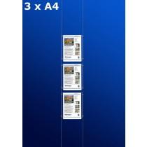 raampresentatie - raamdisplay 3 x a4