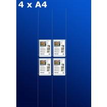 raampresentatie - raamdisplay 2 x dubbel a4