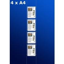 raampresentatie - raamdisplay 4 x a4
