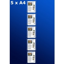 raampresentatie - raamdisplay 5 x a4