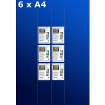 raampresentatie - raamdisplay 3 x dubbel a4
