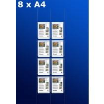 raampresentatie - raamdisplay 4 x dubbel a4