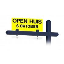 Bovenbord OPEN HUIS met datum (geel)