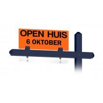 Bovenbord OPEN HUIS met datum (oranje)