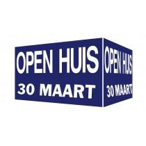 Open Huis V-bord met dtaum (blauw)