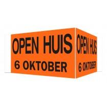 Open Huis V-bord 6 oktober (oranje)